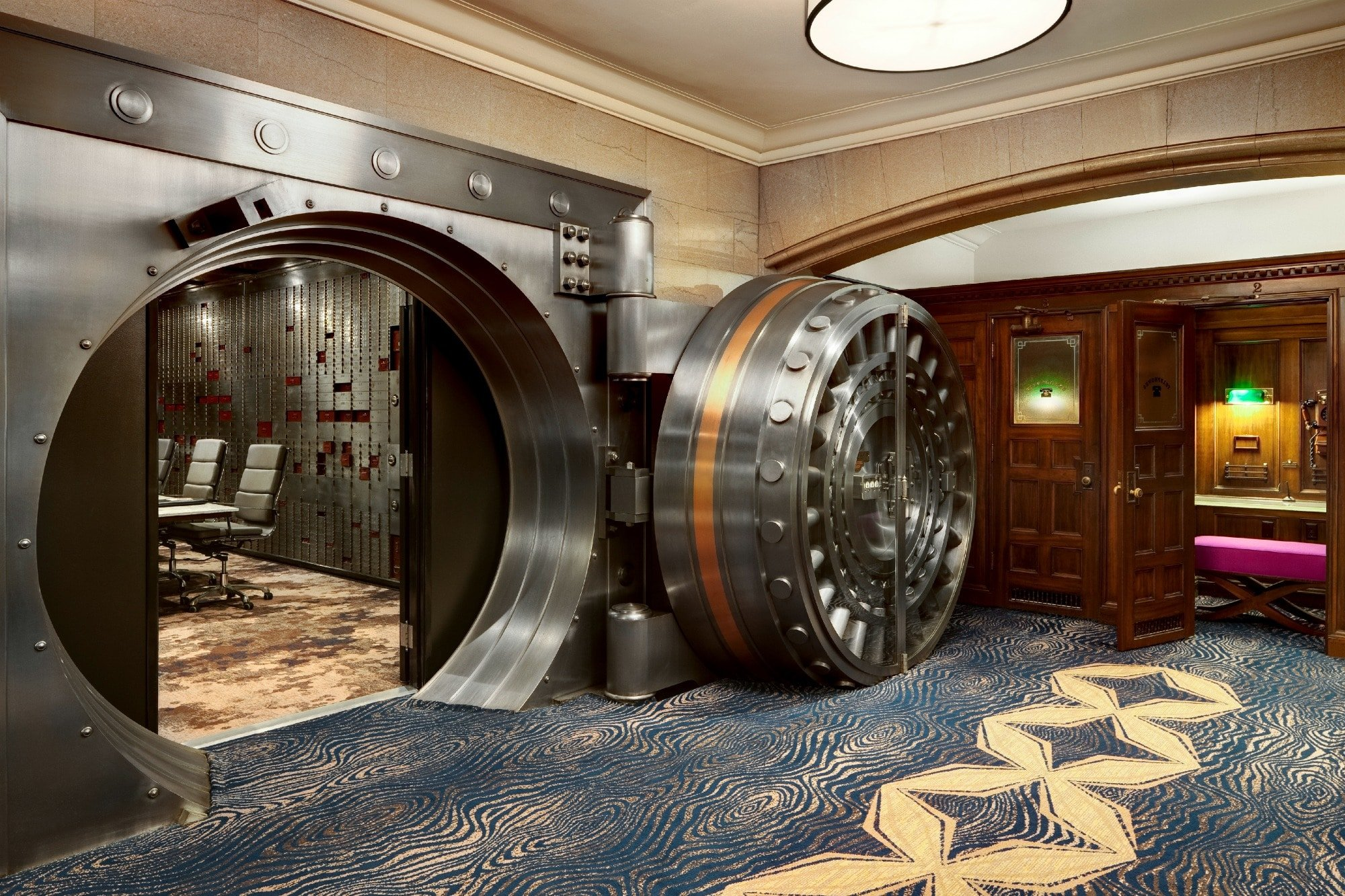 The old bank vault turned conference room at Courtyard by Marriott San Diego Downtown.