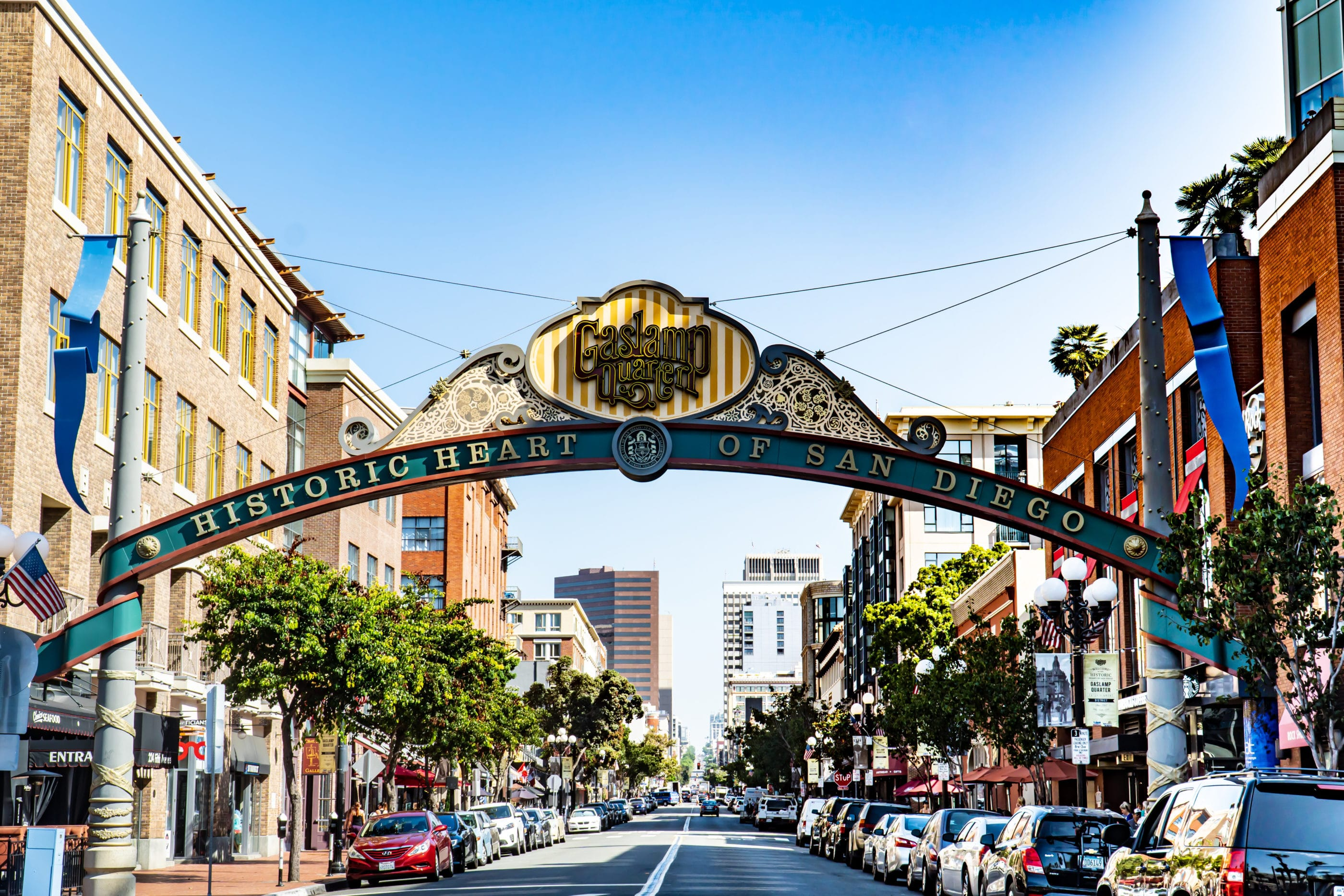 The San Diego Gaslamp Quarter Sign