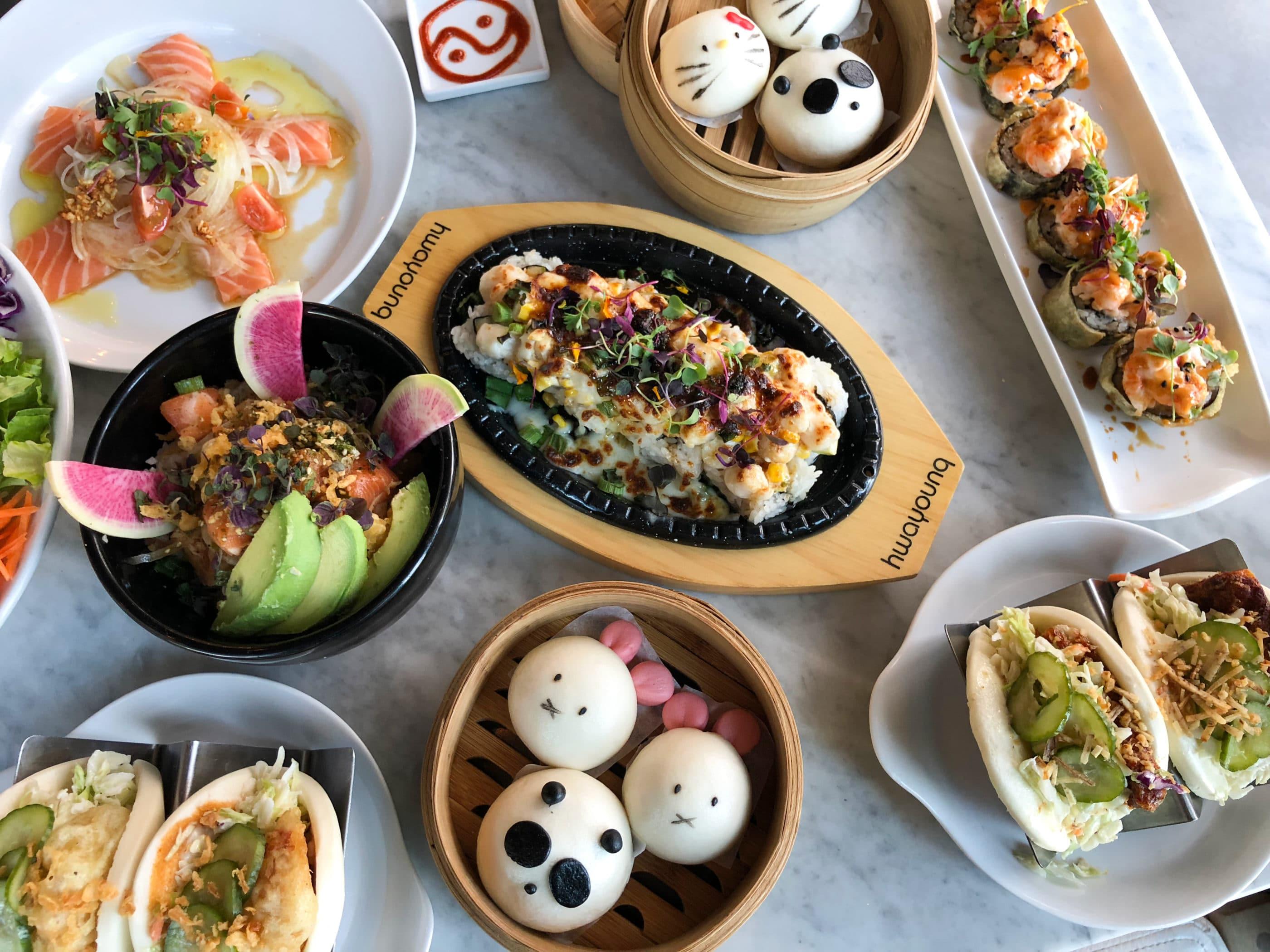 Character buns and Asian fare at Harumama La Jolla restaurant.