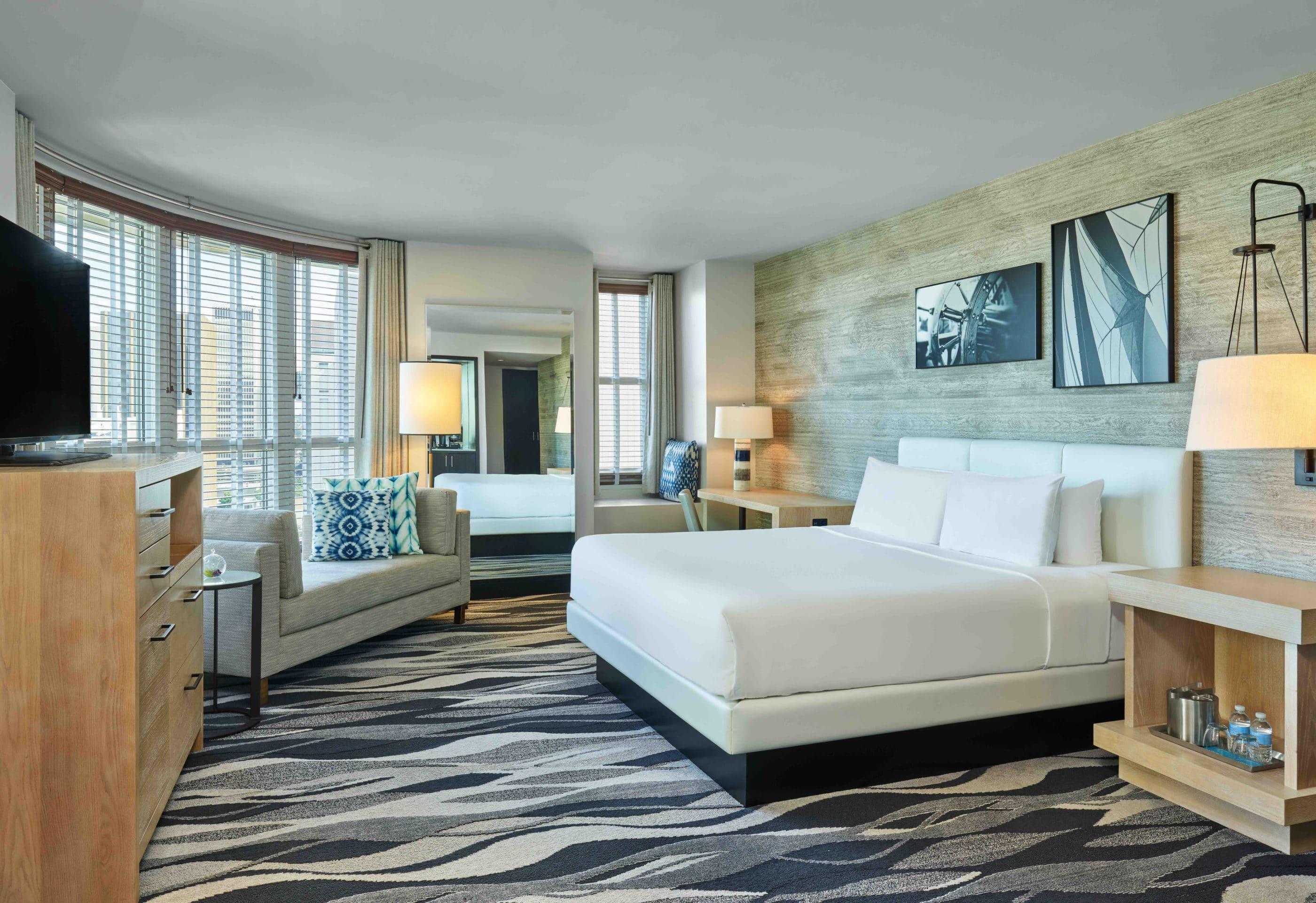 A king room interior at Hotel Republic San Diego