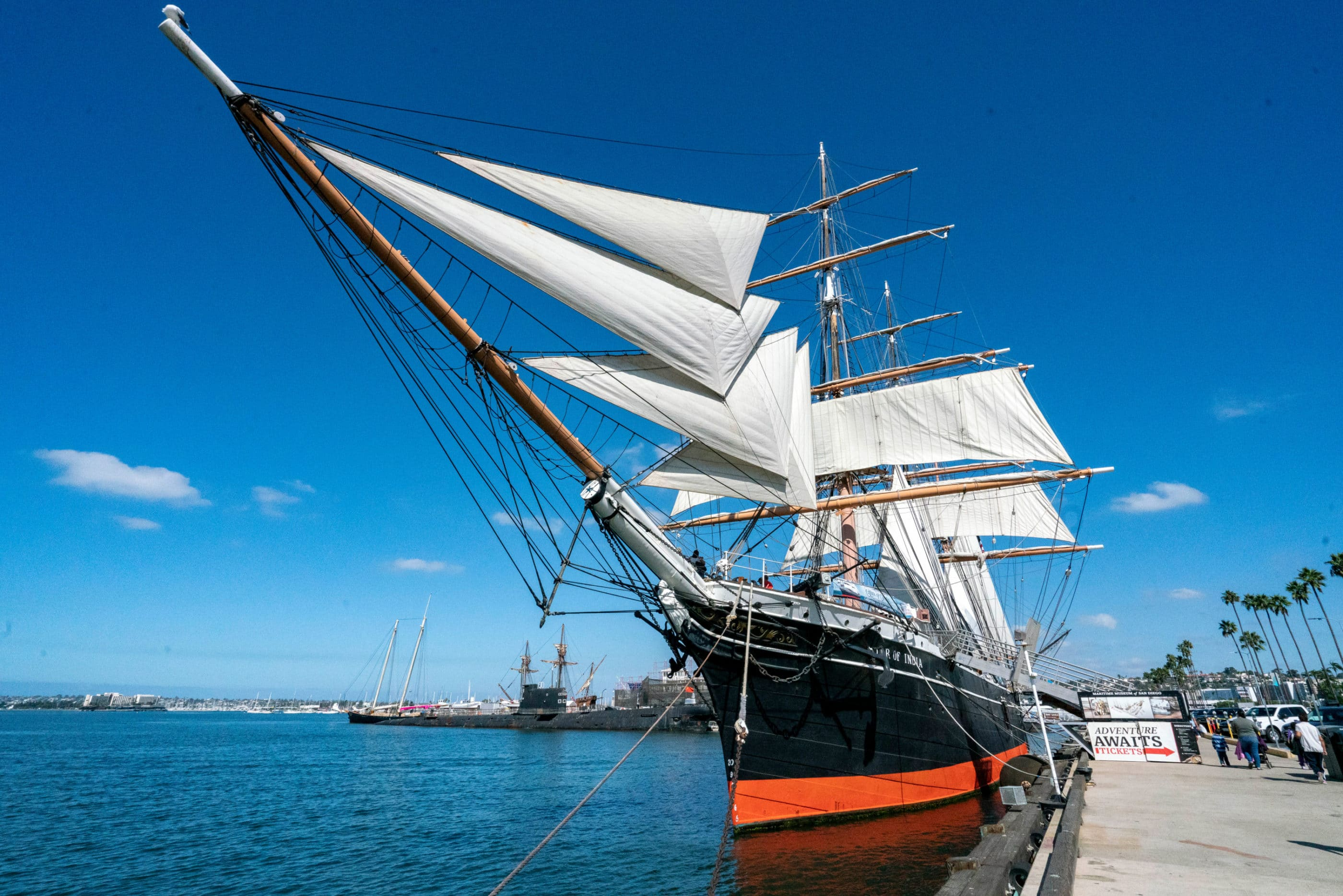 Star of India ship at the Maritime Museum of San Diego in Downtown.