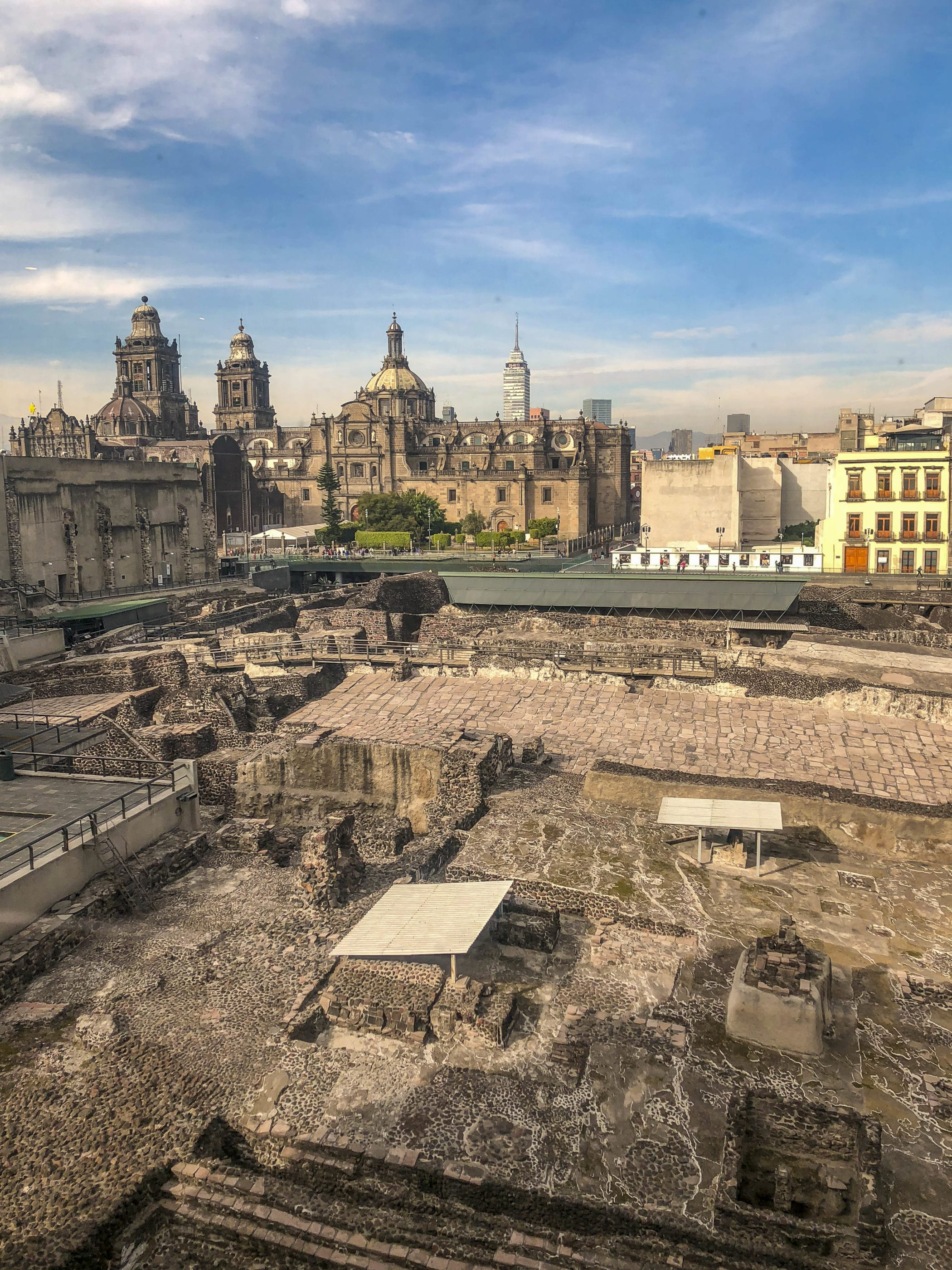 Ruins of Templo Mayor. They are a must-see Mexico City attractions when you have kids who will study the Aztecs.