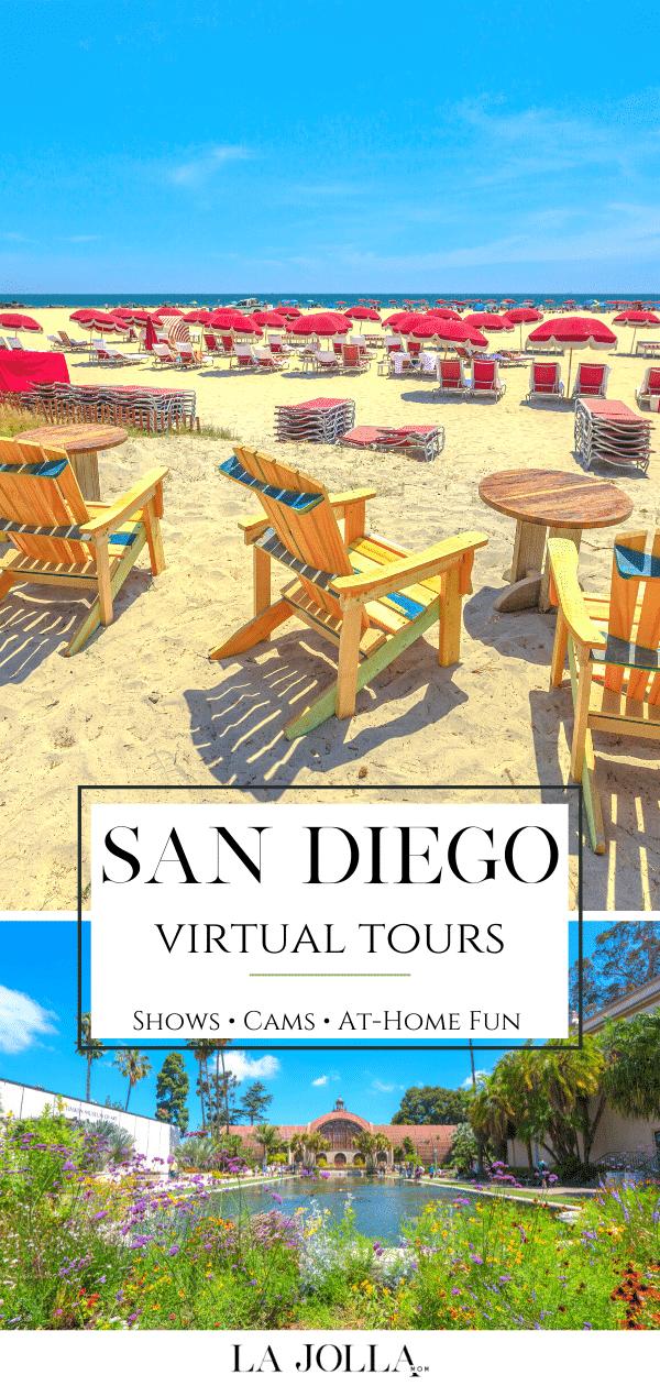 Améliorez votre visite ou apprenez quelque chose de nouveau sur votre lieu de résidence avec des visites virtuelles, des spectacles, des caméras et des activités sympas à San Diego que vous pourrez apprécier à la maison.