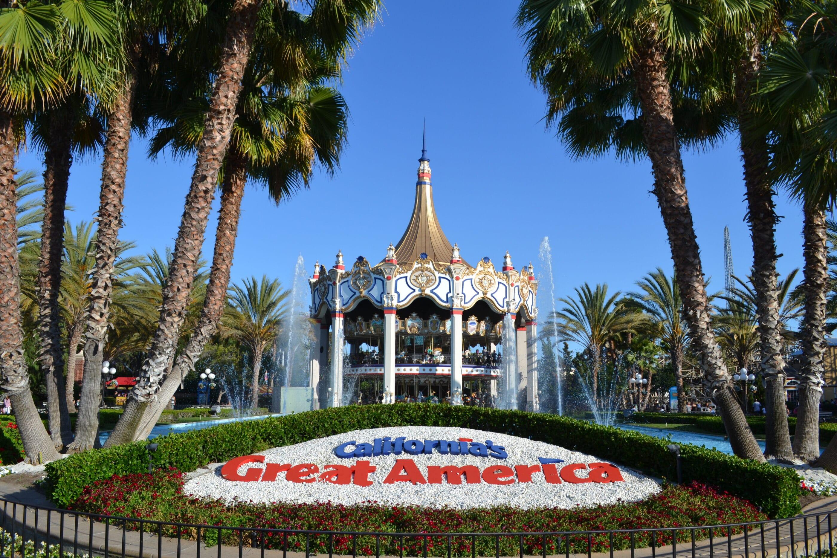 California's Great America carousel