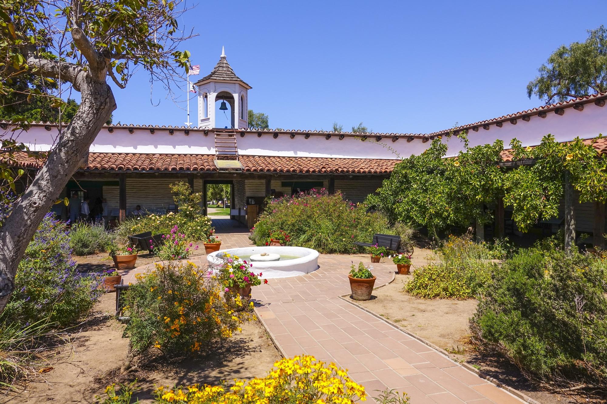 The courtyard and fountain at Casa de Estudillo in Old Town San Diego.
