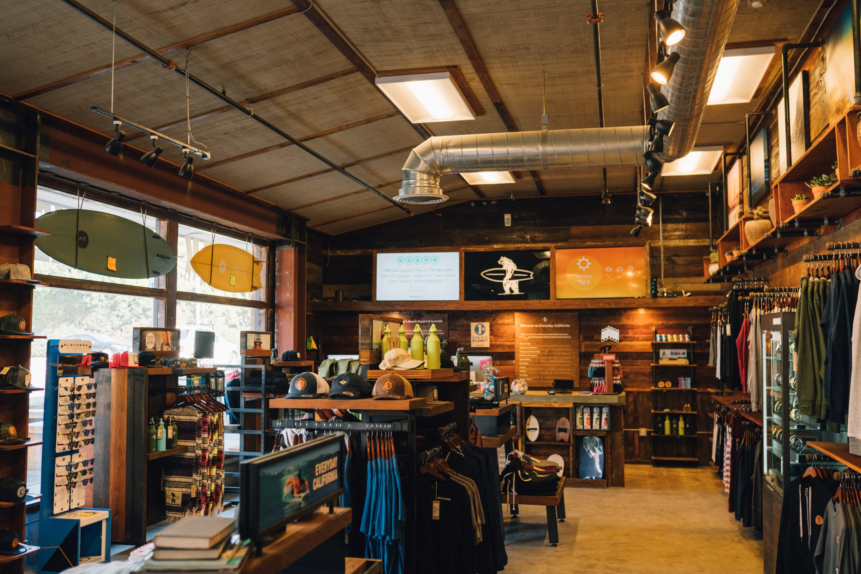 The interior of the Everyday California shop in La Jolla Shores.