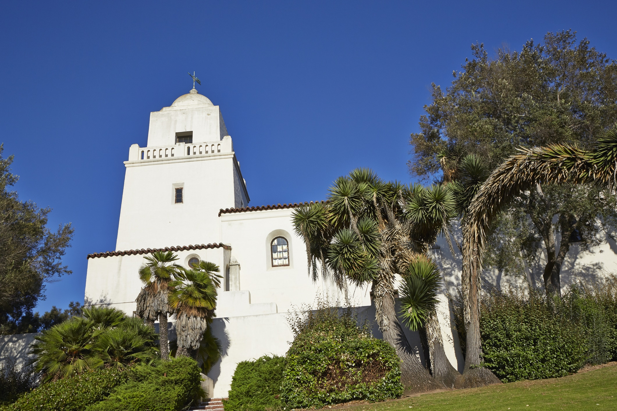 Junipero Serra Museum's white tower, in Old Town San Diego.