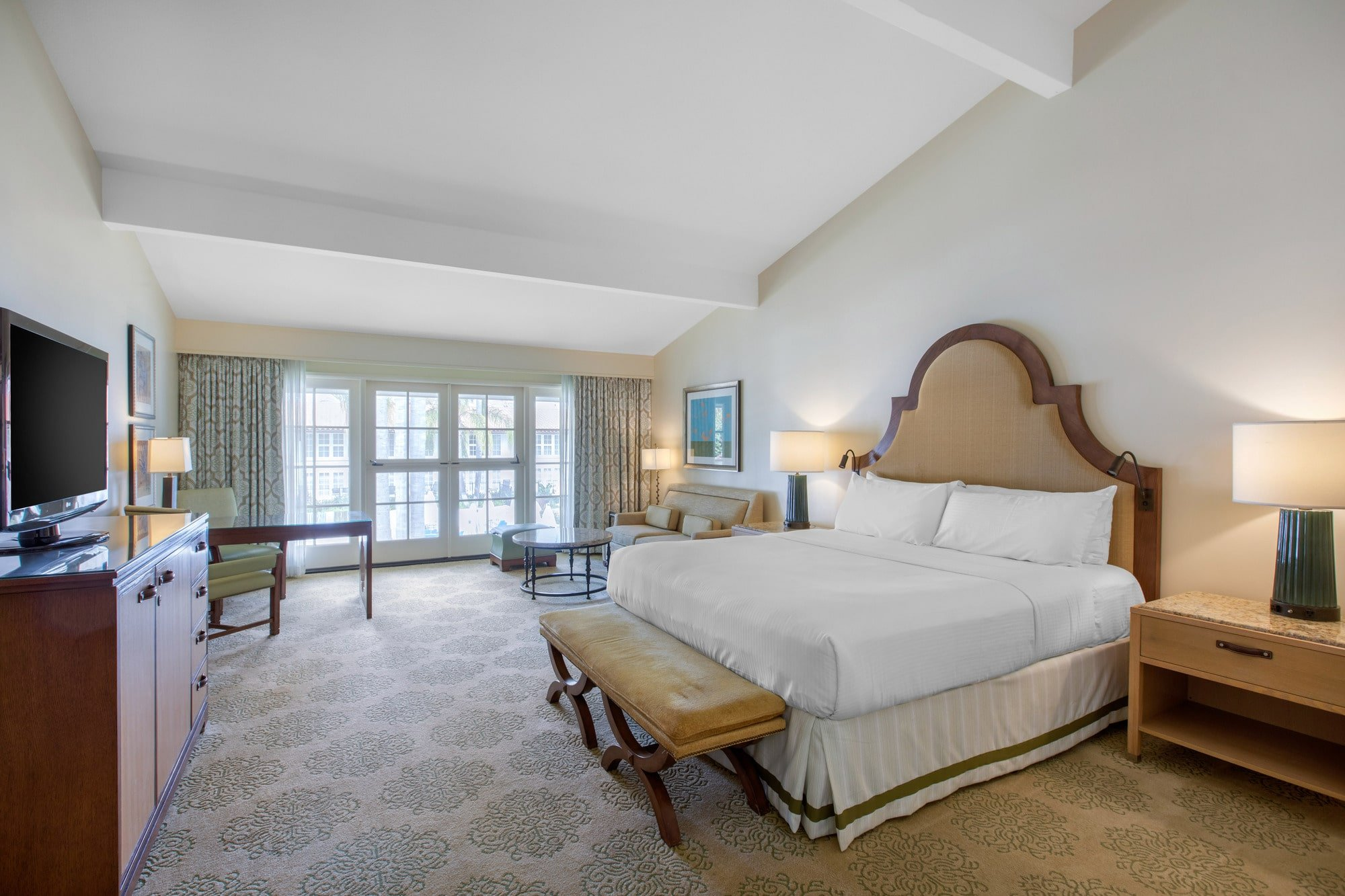 Larger La Costa King Room with sofa bed interior at Omni La Costa Resort and Spa Carlsbad.