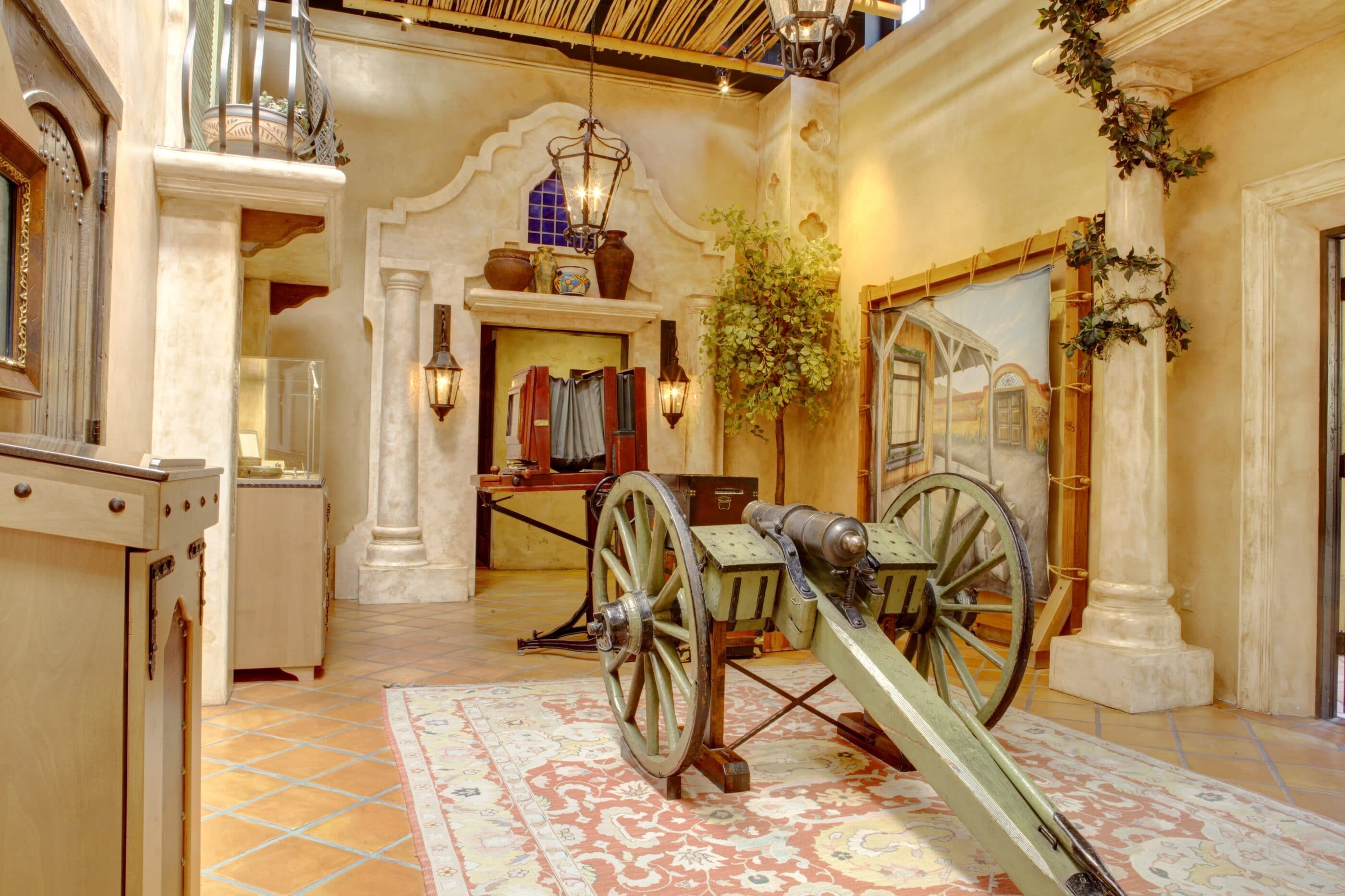 A canon inside the Mormon Battalion historic site in Old Town San Diego.