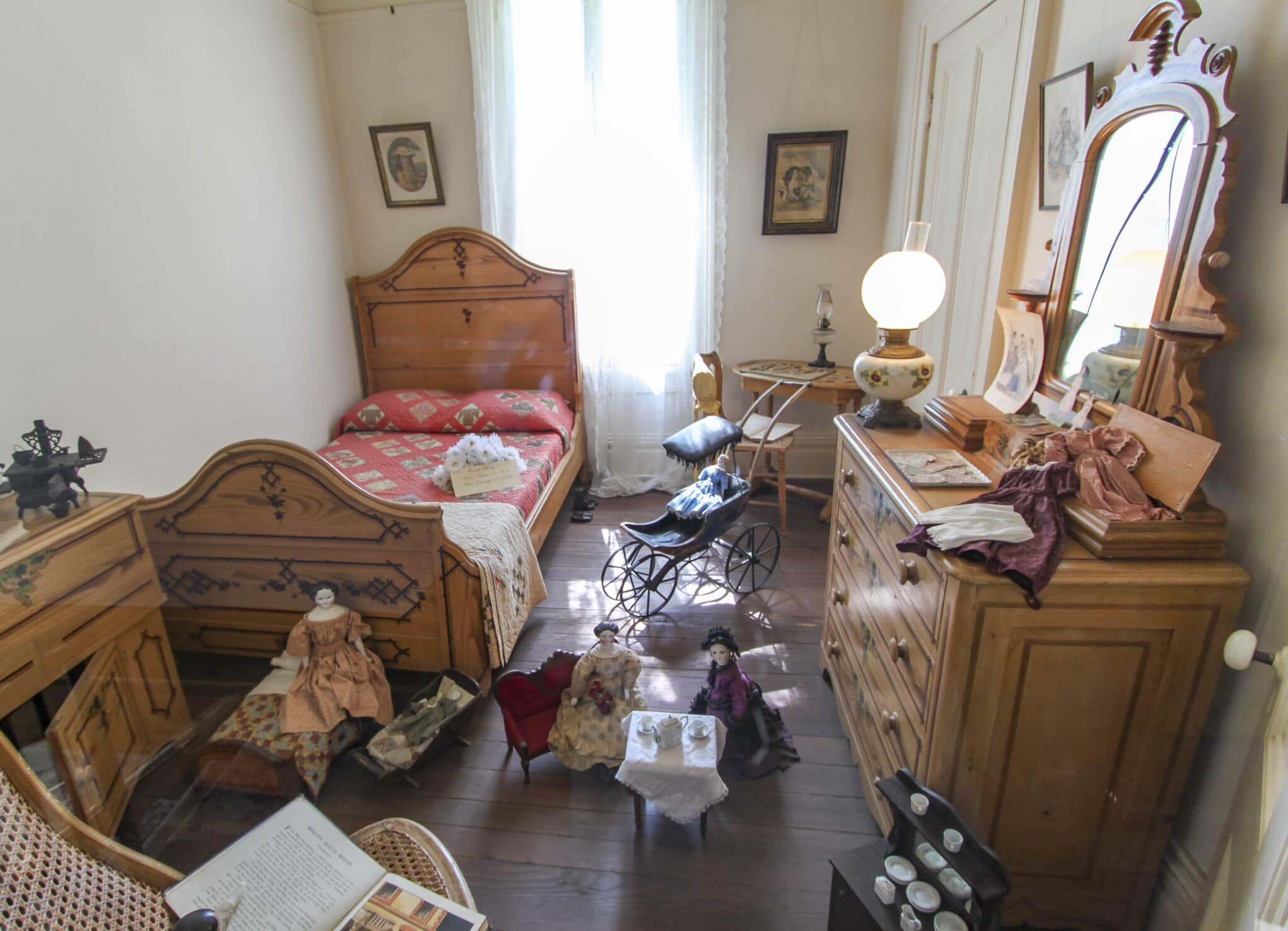 A girls' bedroom inside the Whaley House, a haunted house and museum in Old Town San Diego.