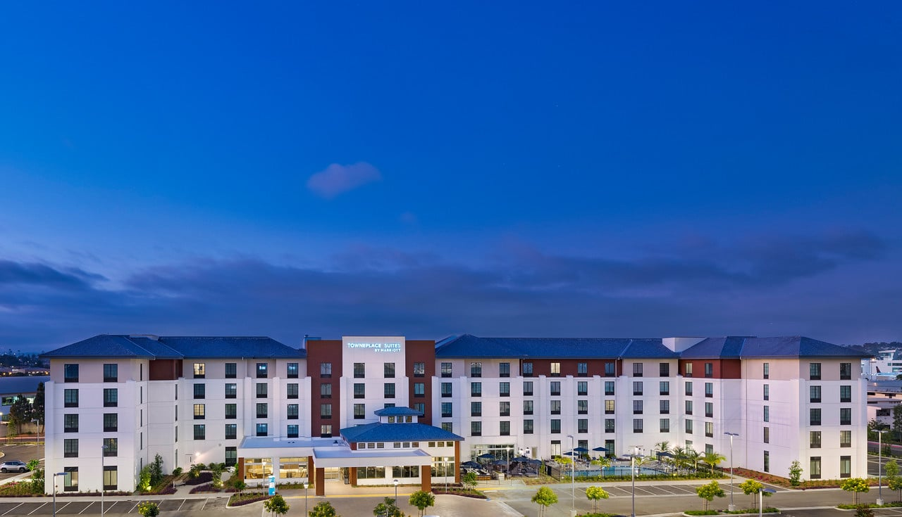 Exterior view of TownePlace Suites San Diego Airport/Liberty Station near the airport.