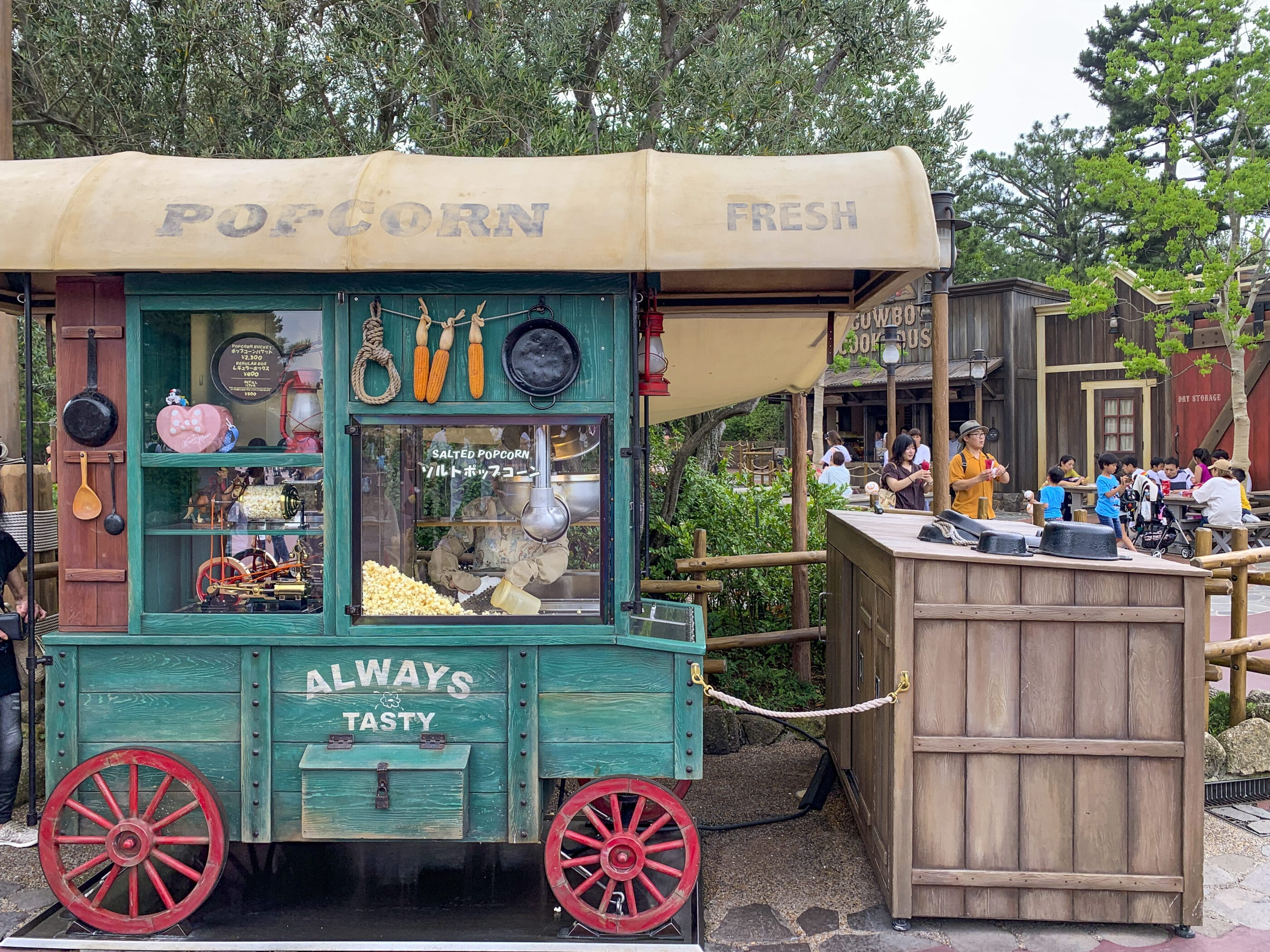 One of the many popcorn carts at Tokyo Disneyland