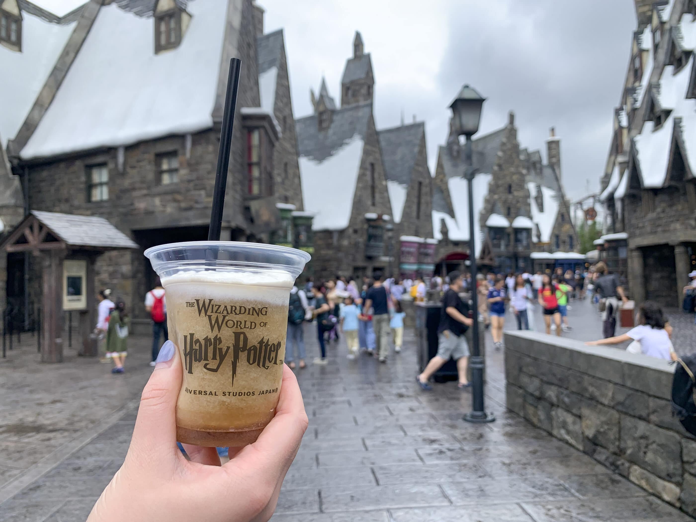 Butterbeer in The Wizarding World of Harry Potter at Universal Studios Japan.
