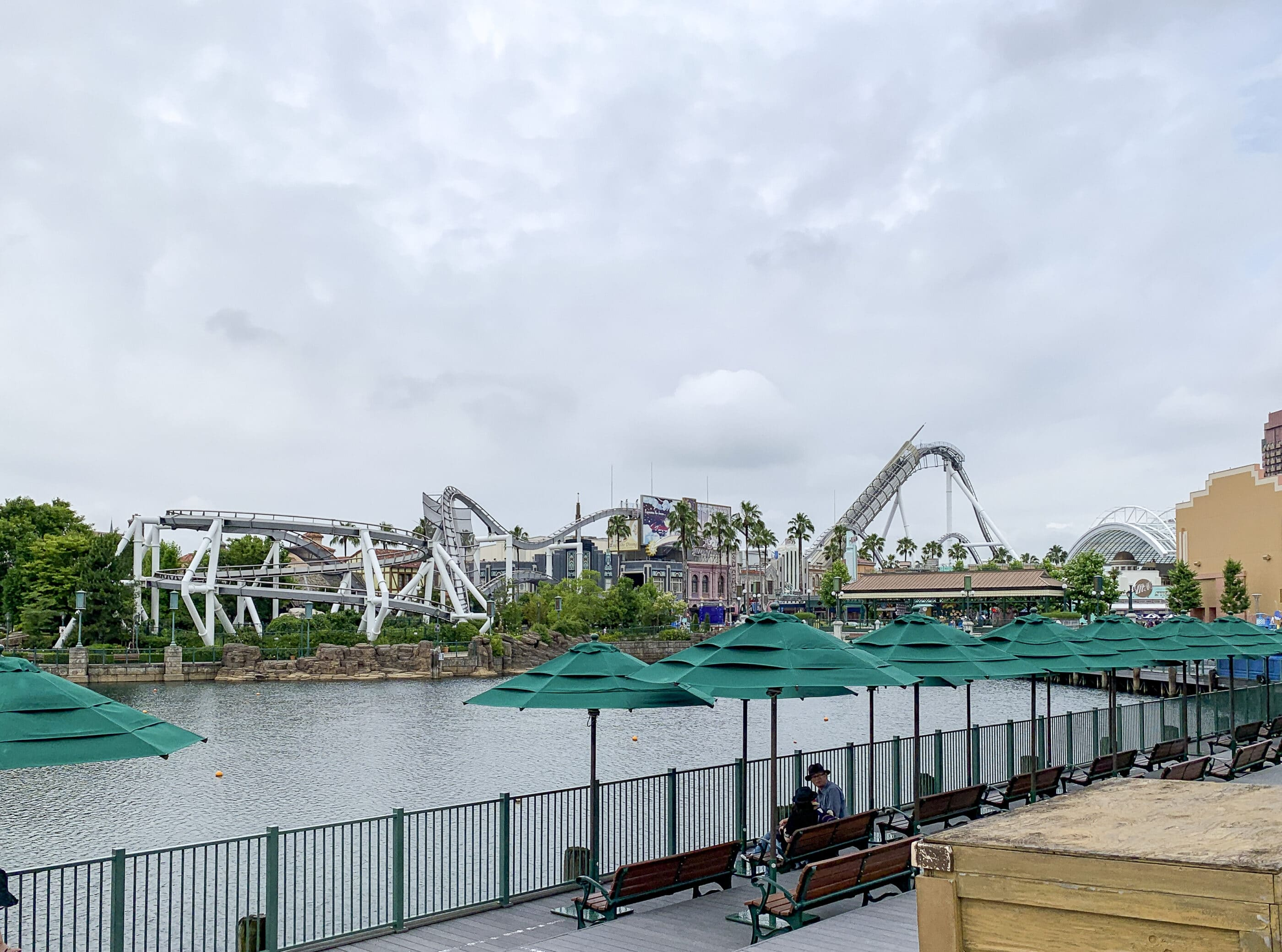 Hollywood Dream roller coaster at Universal Studios Japan.