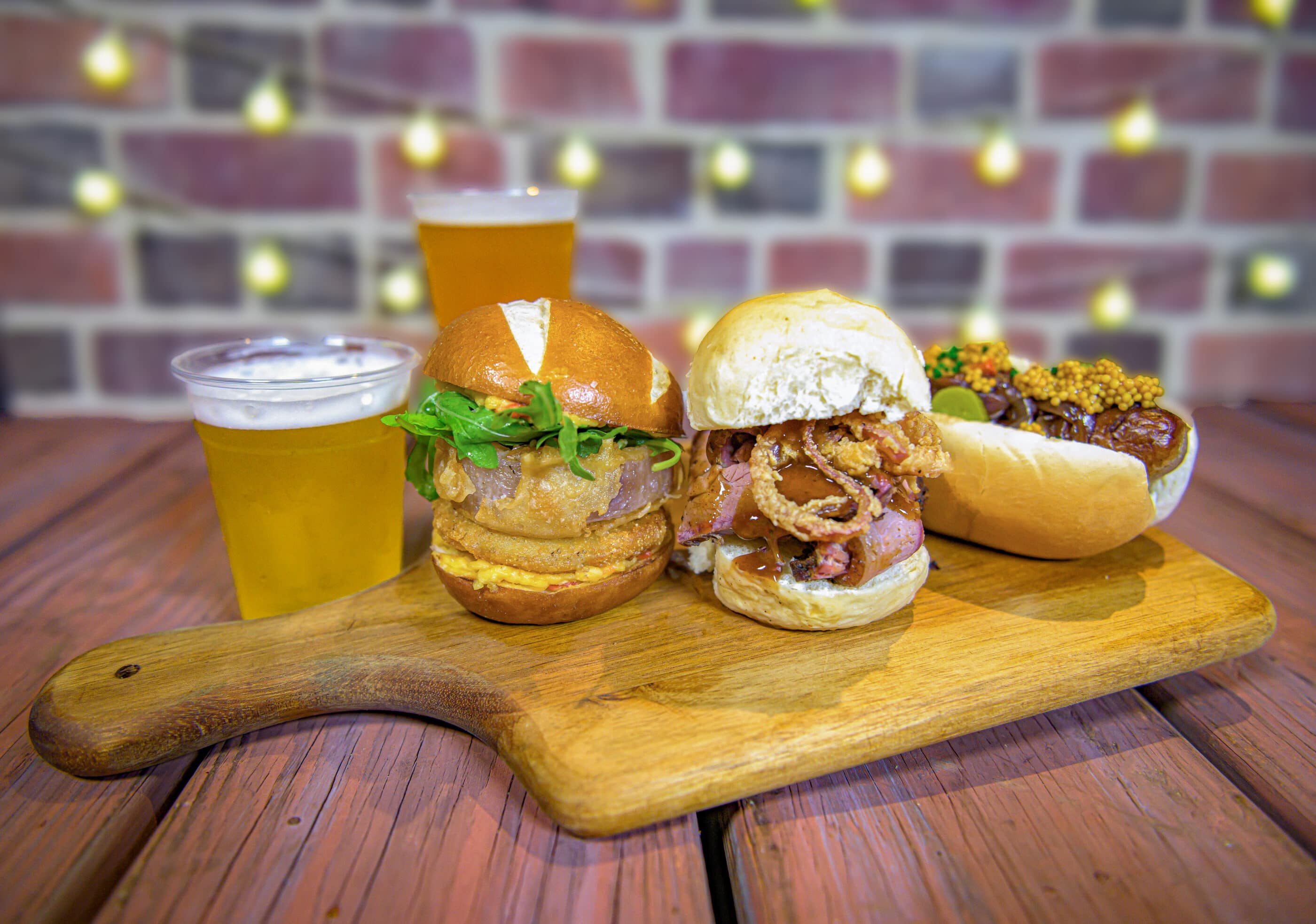 Craft Beer, Fried Green Tomato, Brisket, Bratwurst Sliders that will be served at SeaWorld San Diego Zoo Days.
