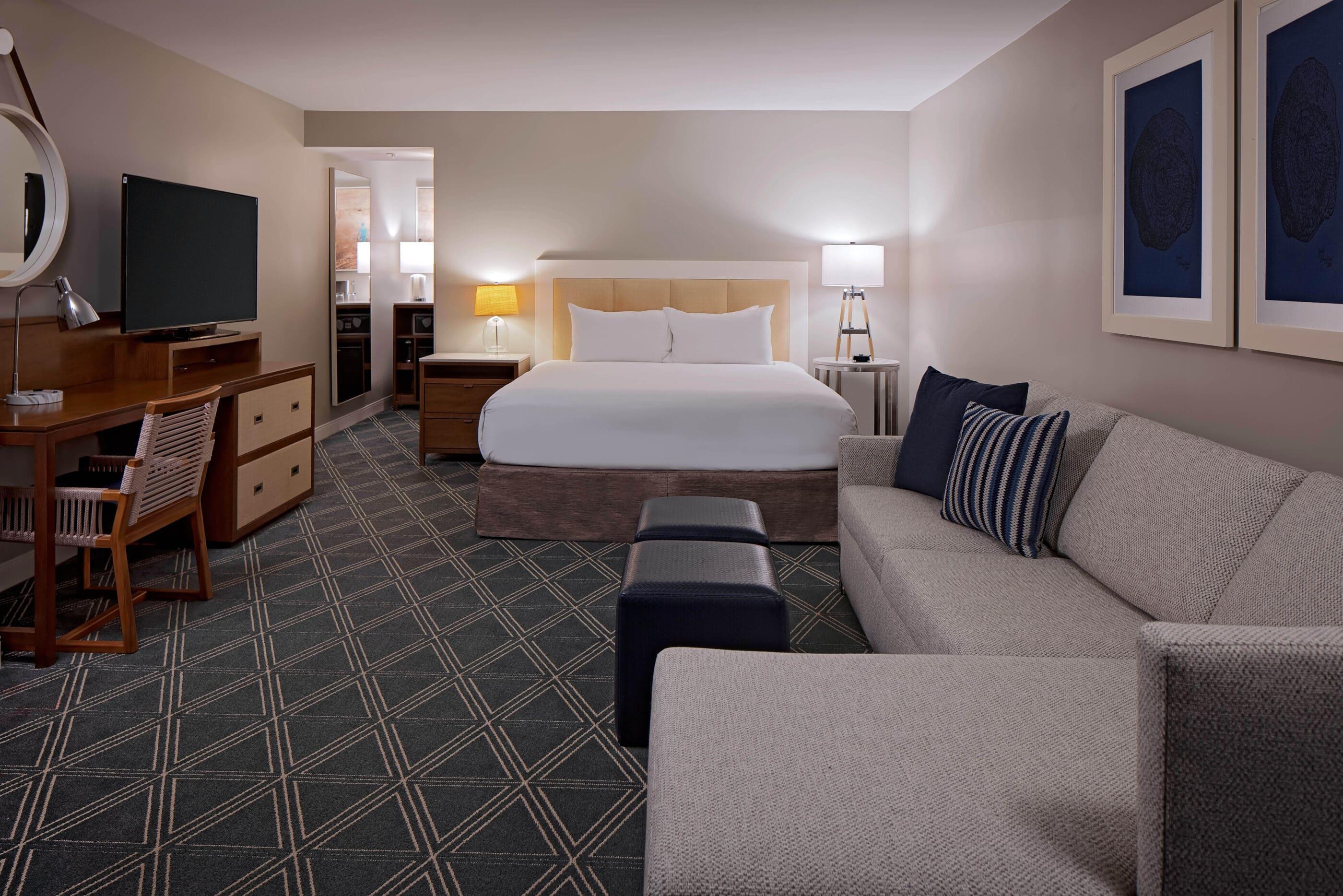 A king guest room at Hyatt Regency Mission Bay Spa & Marina.