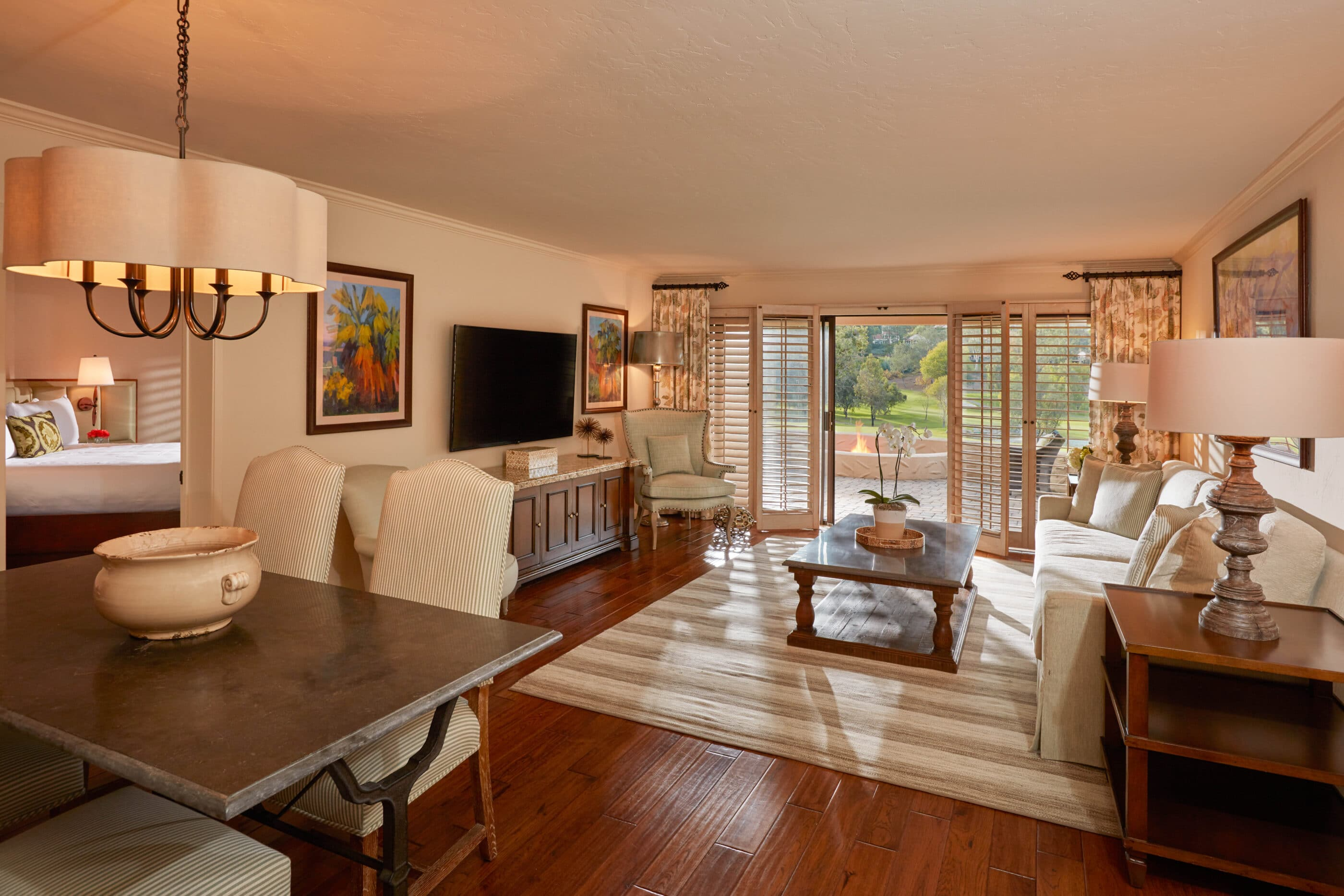 The Vice Presidential Suite living room at Rancho Bernardo Inn