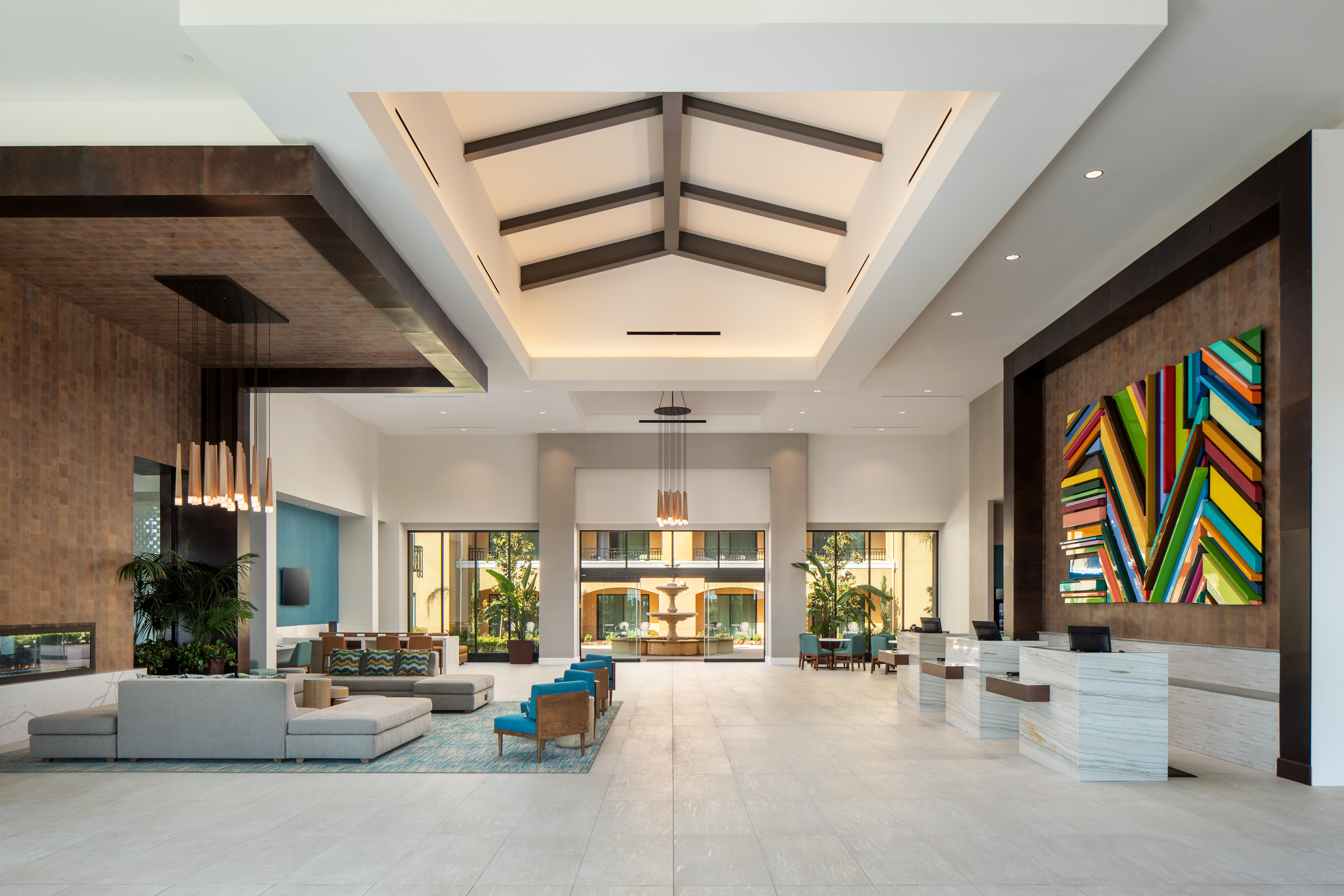 The lobby at Sheraton Carlsbad
