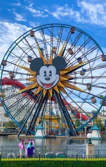 Pixar Pal-A-Round wheel ride at Disney California Adventure Park.