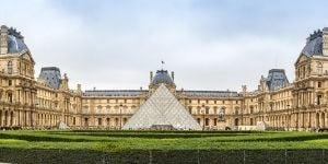 Glass Louvre Pyramid in Paris