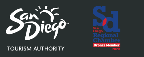 San Diego Tourism Authority and Chamber of Commerce logos