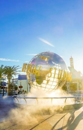 The globe in front of Universal Studios Hollywood.