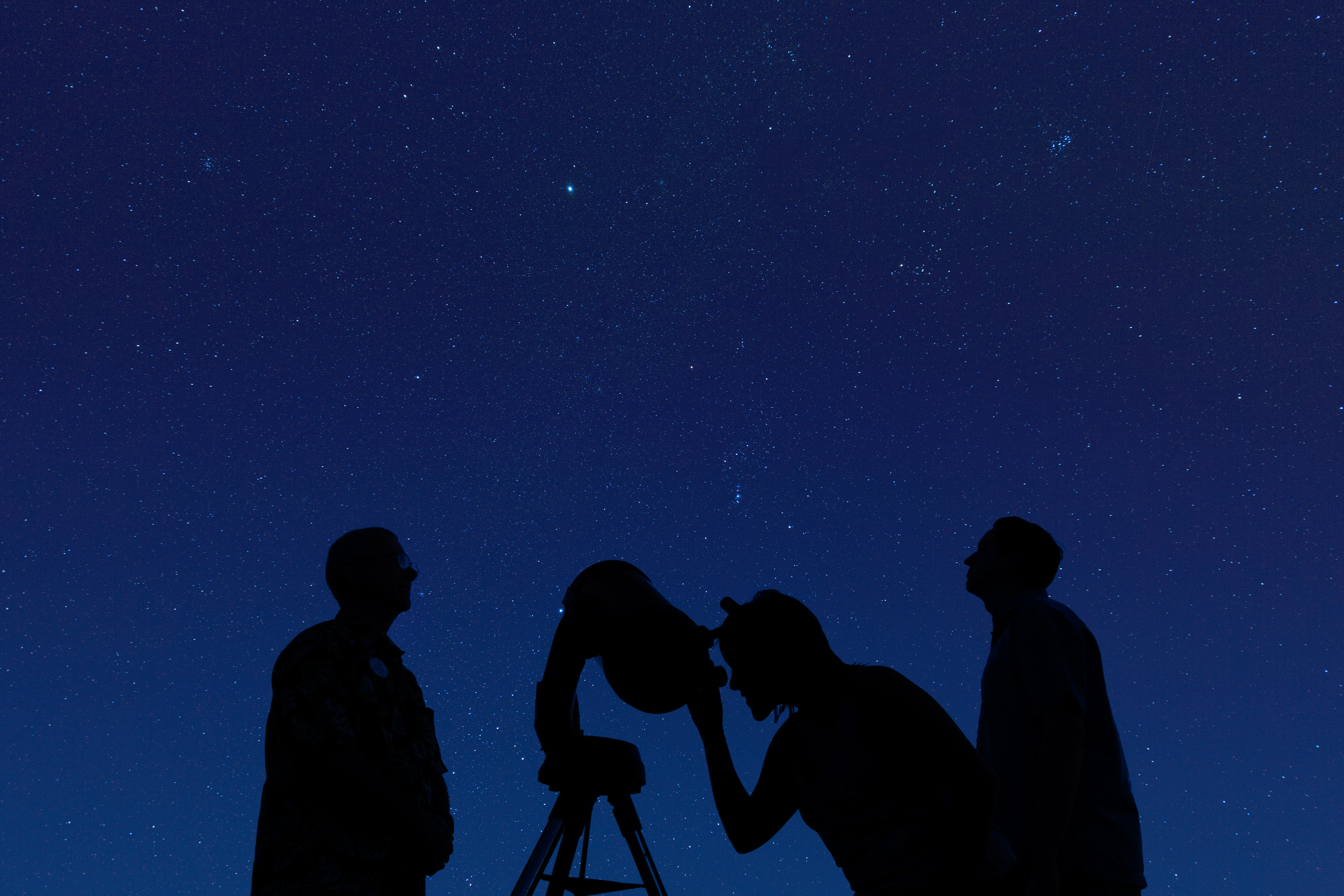Guests take turns looking through a telescope during Tour of the Stars.
