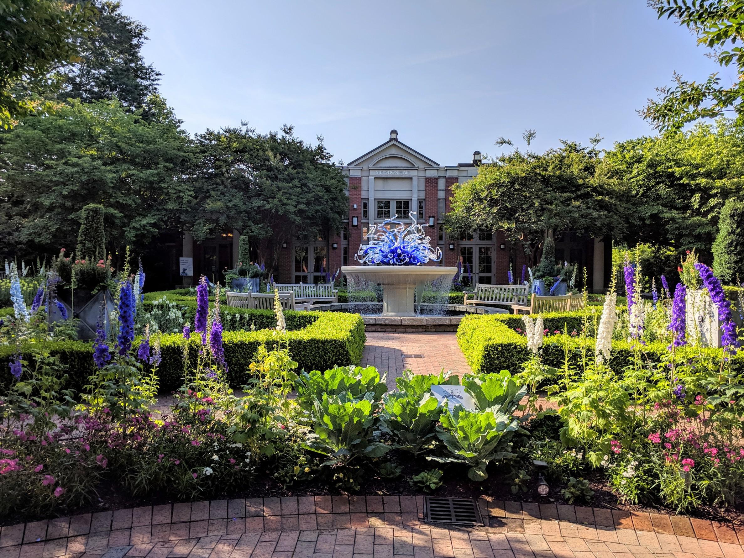 Flowers in bloom at Atlanta Botanical Gardens.