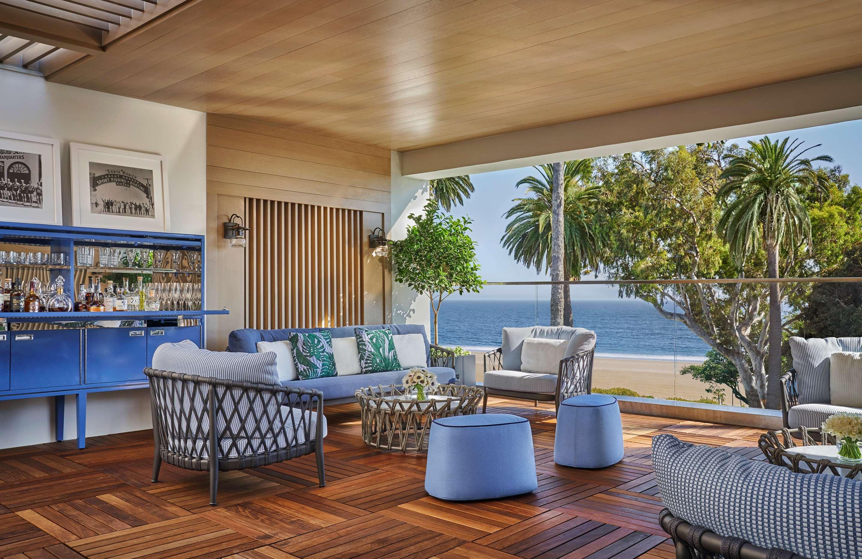Ocean views from a seating area at Oceana Santa Monica.