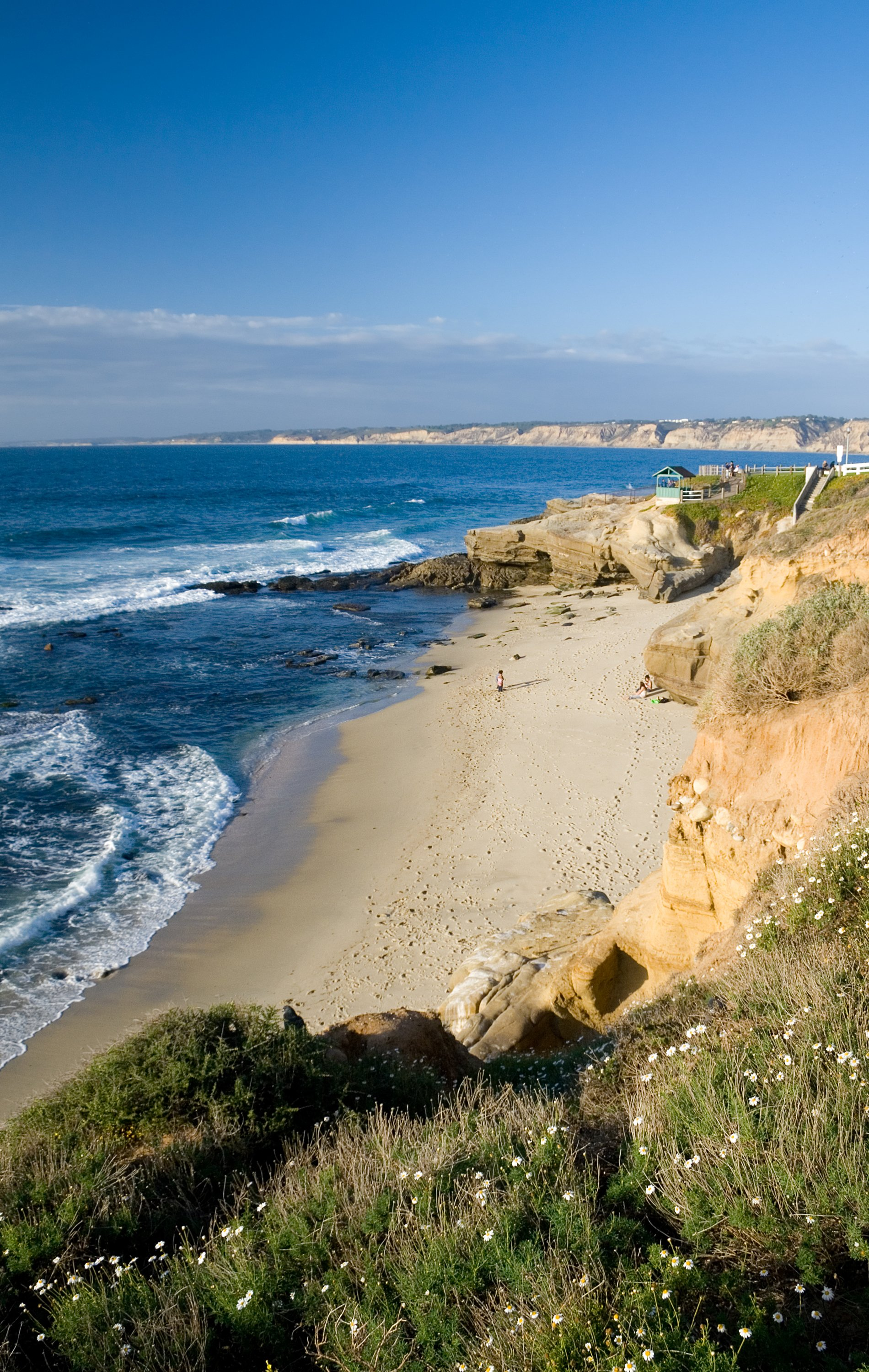 The sand at La Jolla Shell Beach on an uncrowded day.